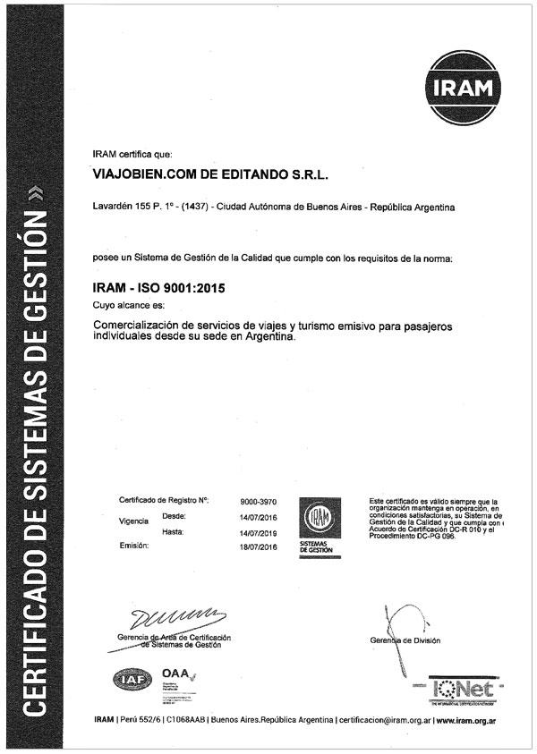 Certificación Iram