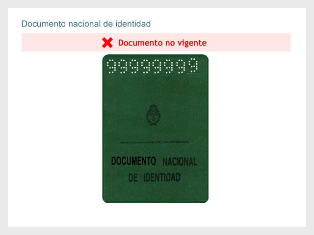 Documento Nacional de identidad (Sin vigencia)