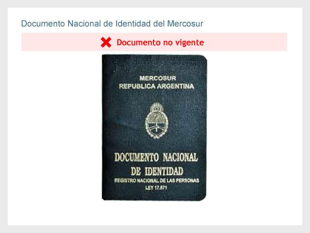 Documento Nacional de identidad del Mercosur (Sin vigencia)