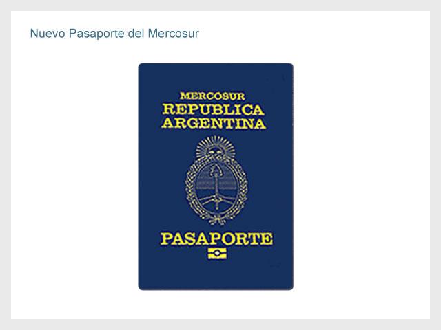 Nuevo Pasaporte del Mercosur
